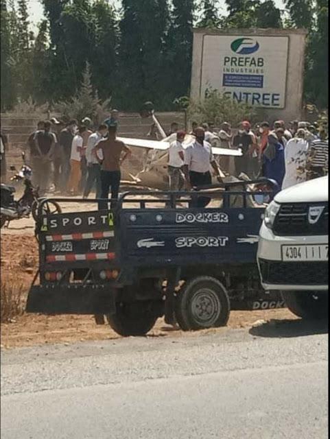 عاجل : سقوط طائرة صغيرة بالقرب من القنيطرة (صور)