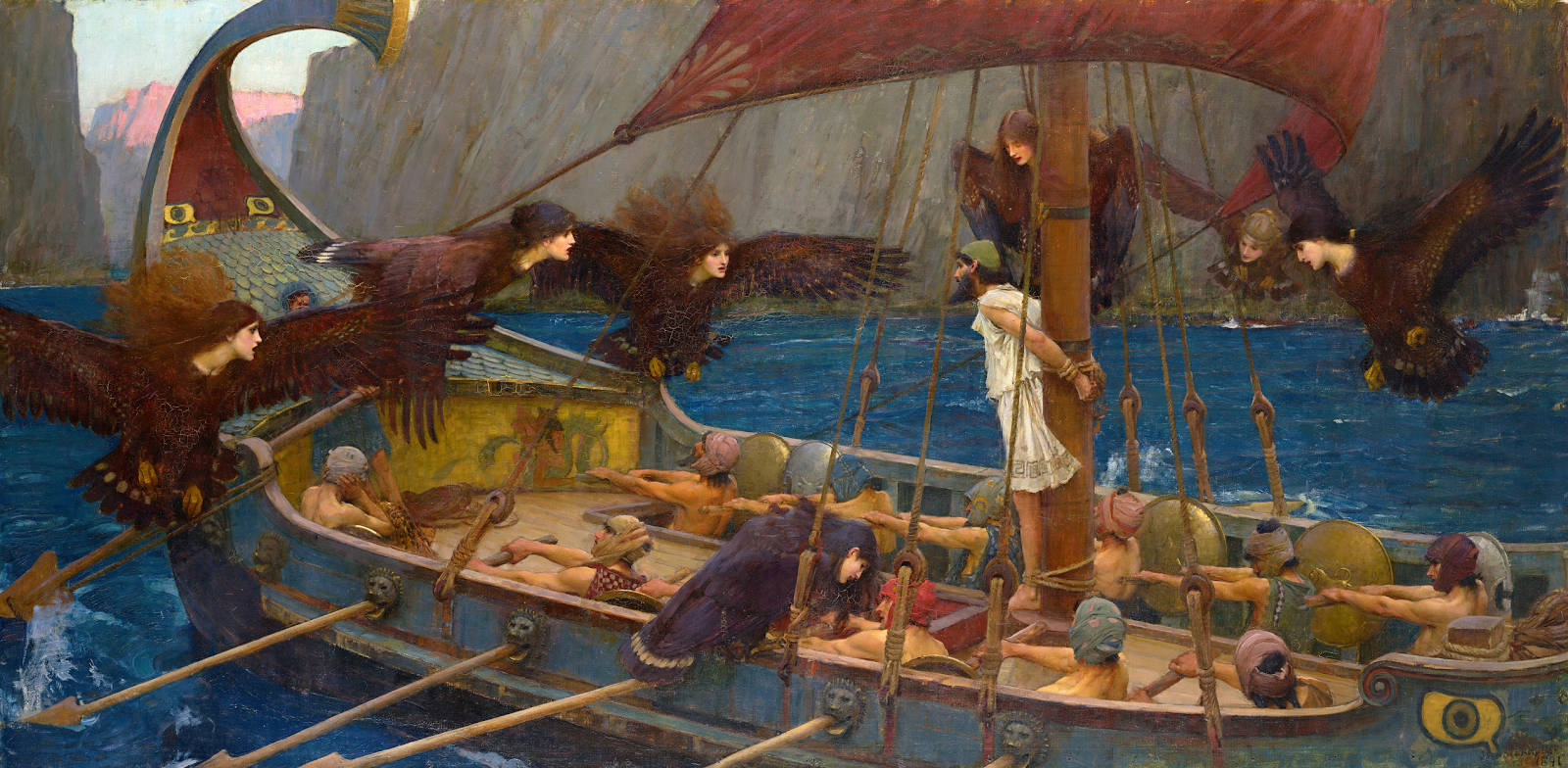 Ulisses e as Sereis, de John William Waterhouse