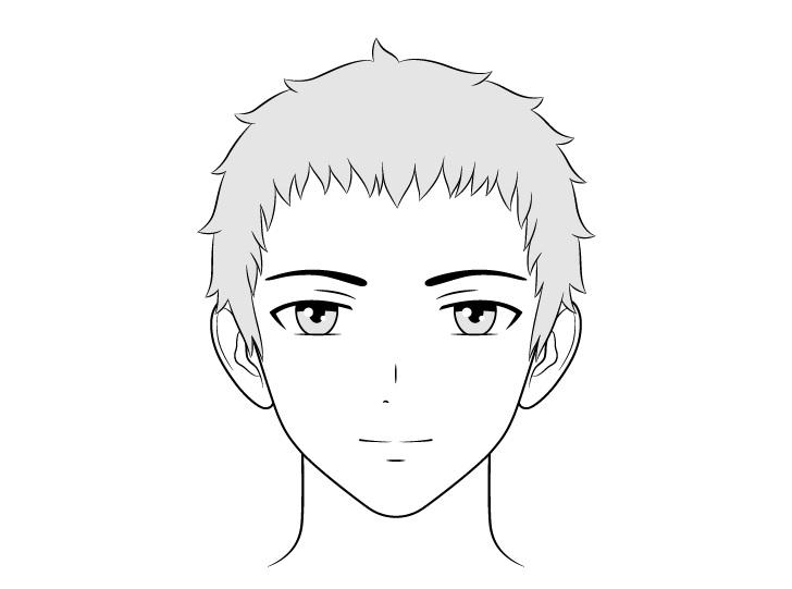 Gambar wajah pria ramah anime