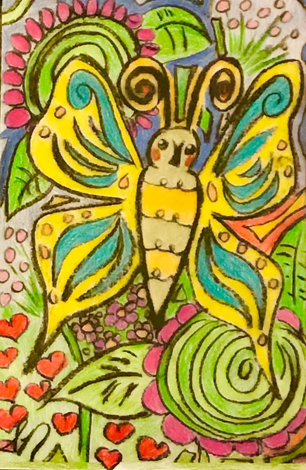 Treasure Box Drawing And Art For Jesus: Butterfly Coloring Page Colored
