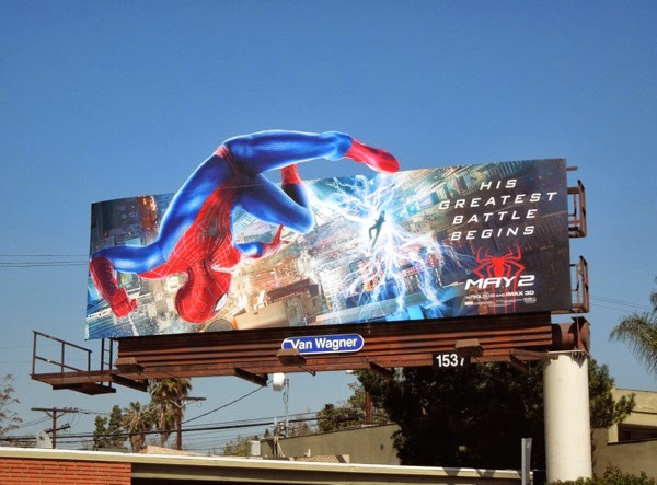Amazing Spider-man 2 Electro billboard