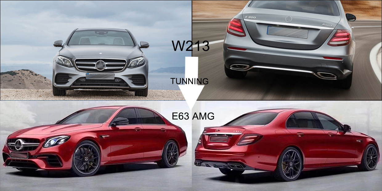 LCK Car accessories: E63 AMG Body Kit For Mercedes-Benz E-Class W213