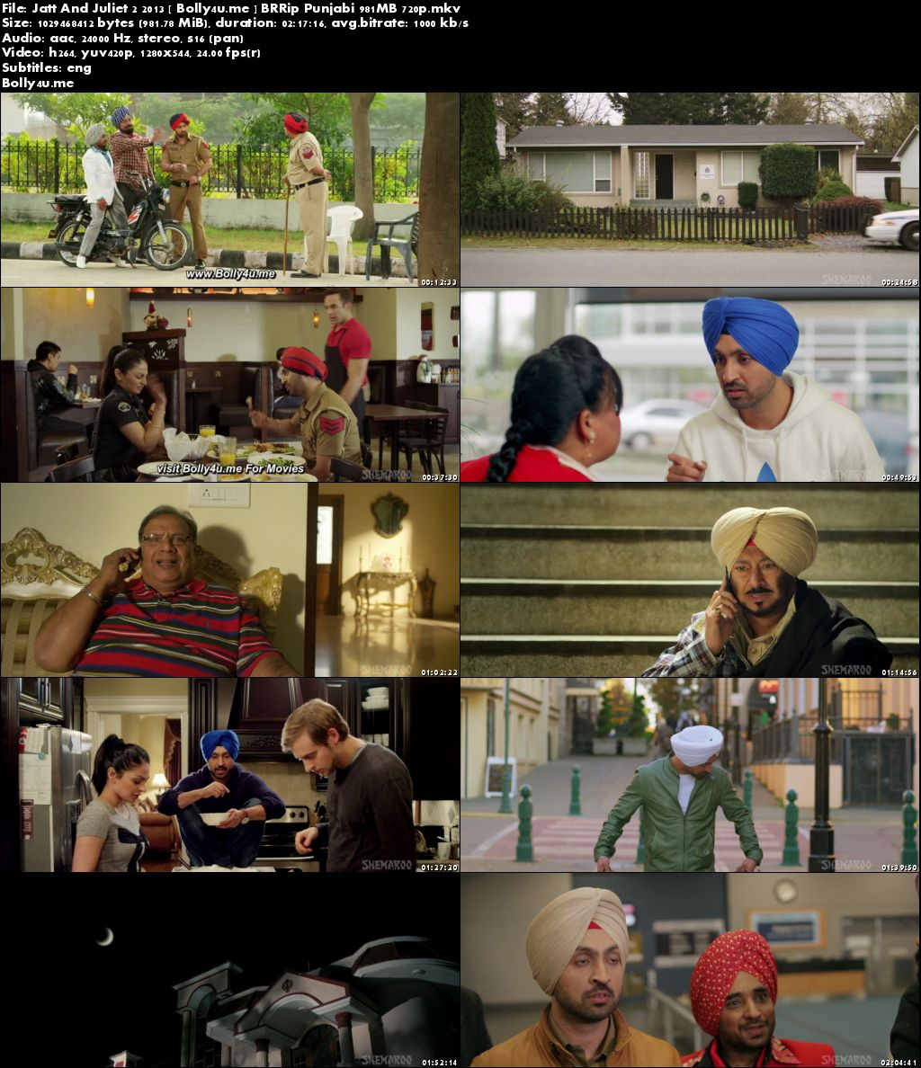 Jatt And Juliet 2 2013 BRRip 950MB Punjabi 720p Download