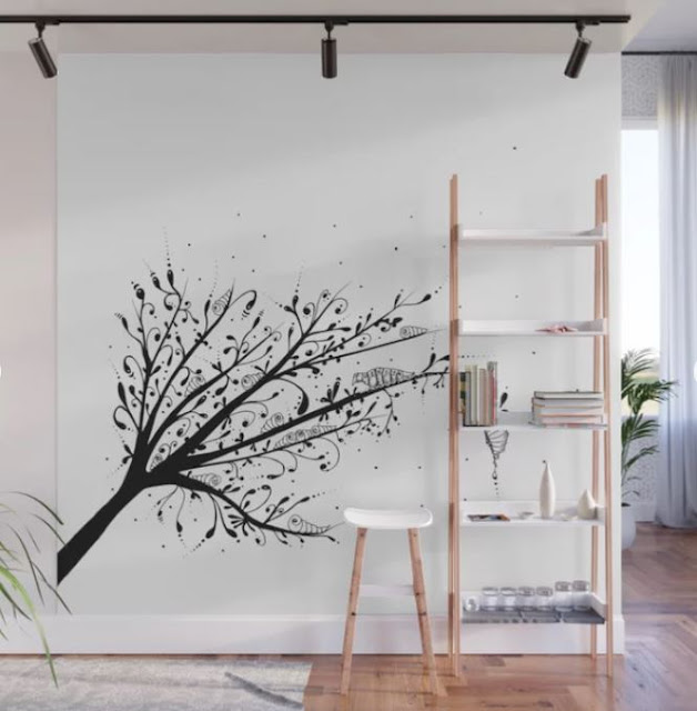 Larva Tree Ink Art