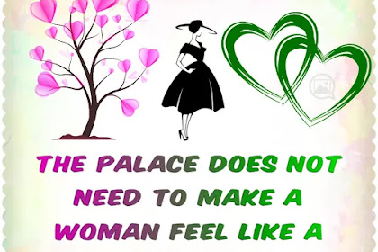 Woman feel like a queen or a princess