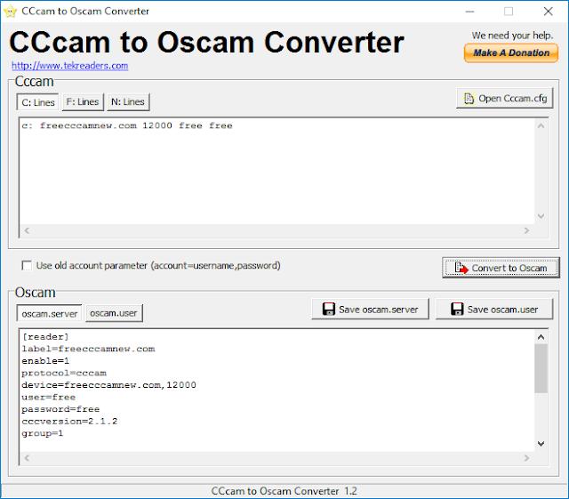 برنامج تحويل سيرفرات Cccam الى سيرفرات Oscam,cccam, تحويل, برنامج, سيرفرات, oscam