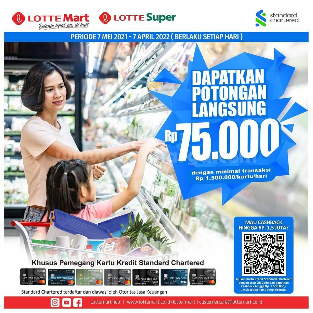 Promo LOTTEMART Buat Kartu Kredit Standard Chartered Dapat Potongan Langsung 75 Ribu