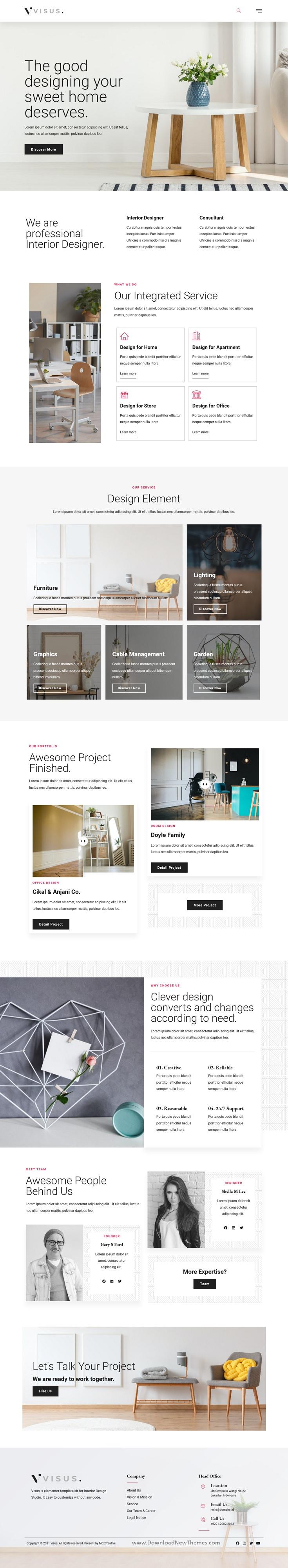 Interior Design & Architecture Elementor Template Kit