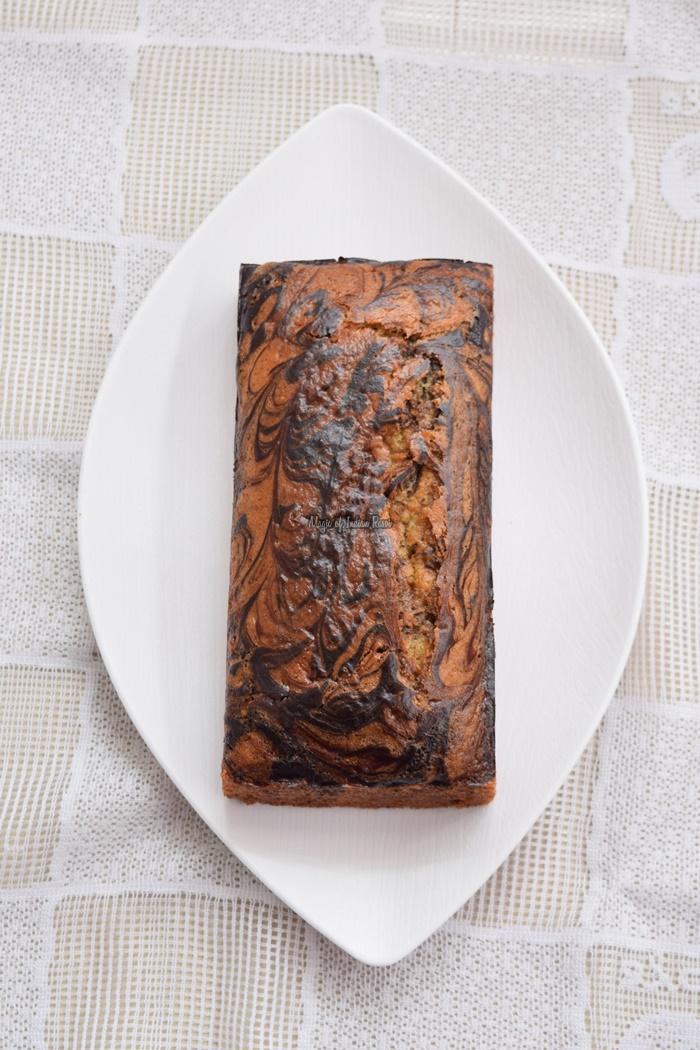 Eggless-Marble-Cake-Swirled-Marble-Tea-Time-Cake-using-Curd-Magic-of-Indian-Rasoi-Priya R