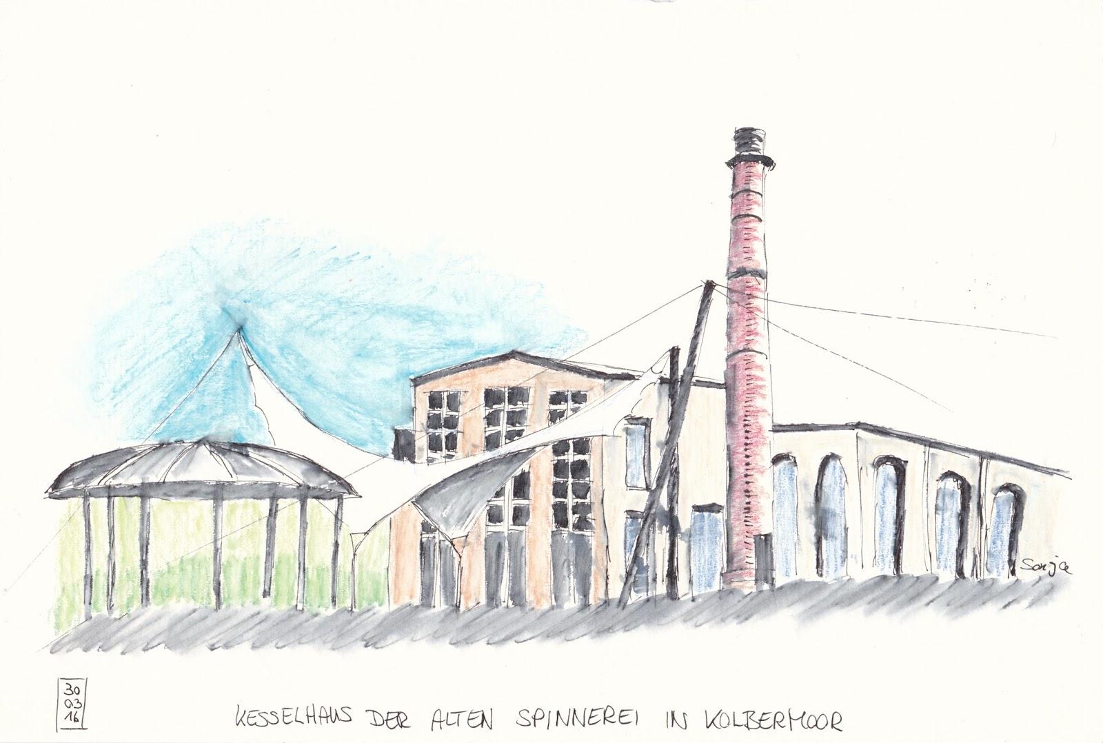 urban sketchers munich alte spinnerei in kolbermoor. Black Bedroom Furniture Sets. Home Design Ideas