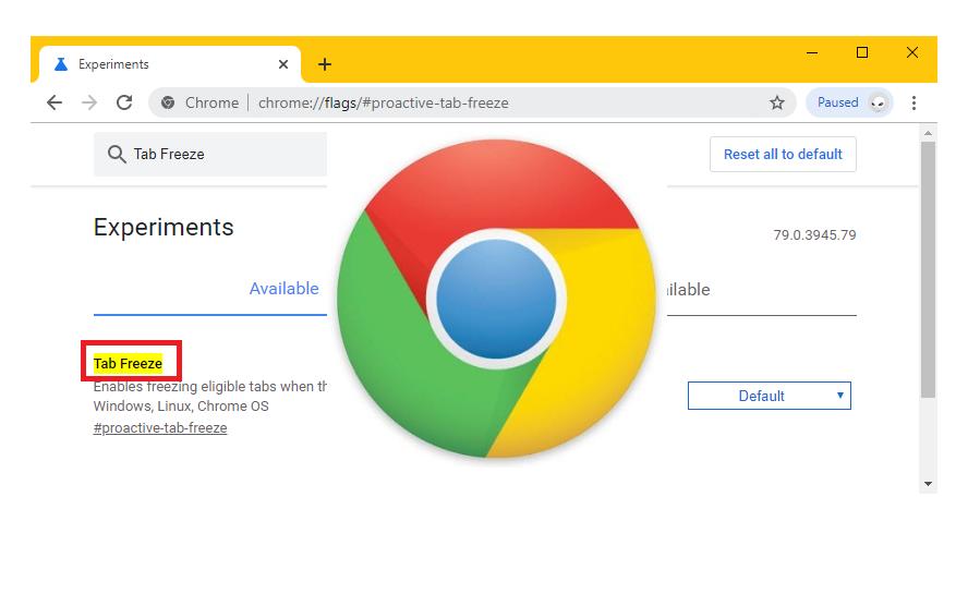 Enable Tab Freezing in Google Chrome