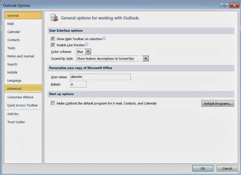 how to run archive in outlook 2010