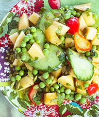 Cantaloupe, Cucumber & English Pea Salad