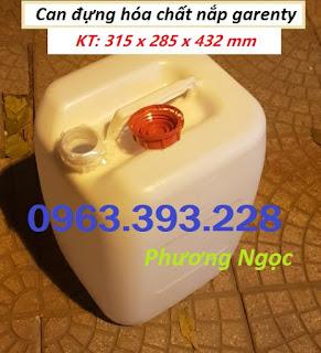 Can đựng hóa chất 30L, can 30L nhựa HDPE, can vuông loại dày
