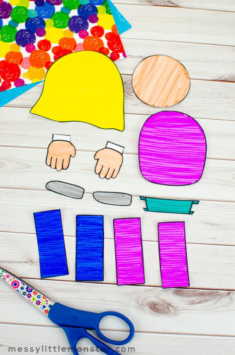 printable all about me craft template