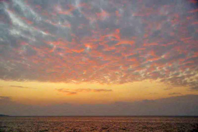 clouds,May, Okinawa, sea, sky, sunrise
