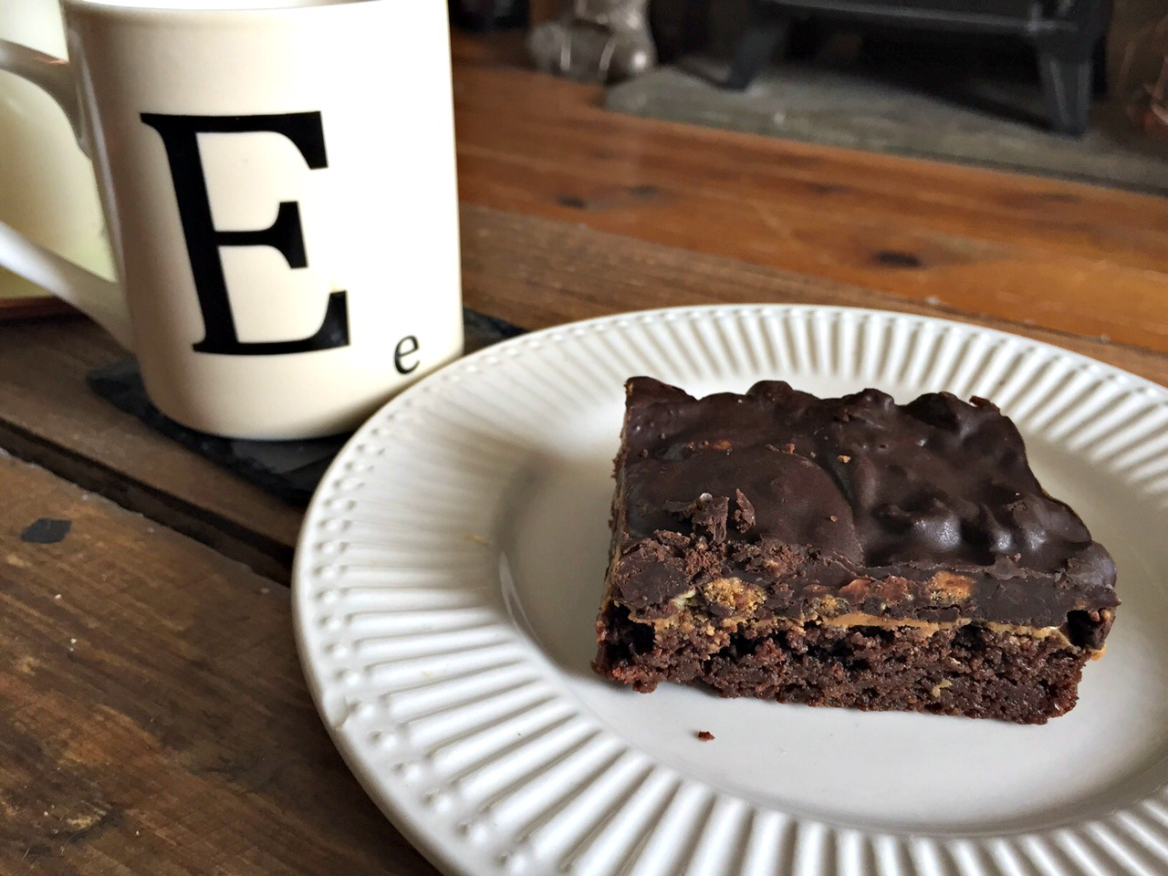Vegan brownie from Good Apple Cafe in Sunderland