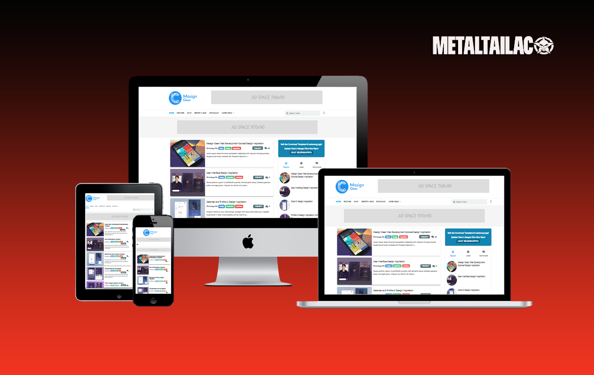 Masign Clean Pro V 40 Responsive Blogger Template