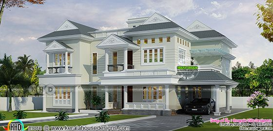 Spacious 4 bedrom Kerala home design