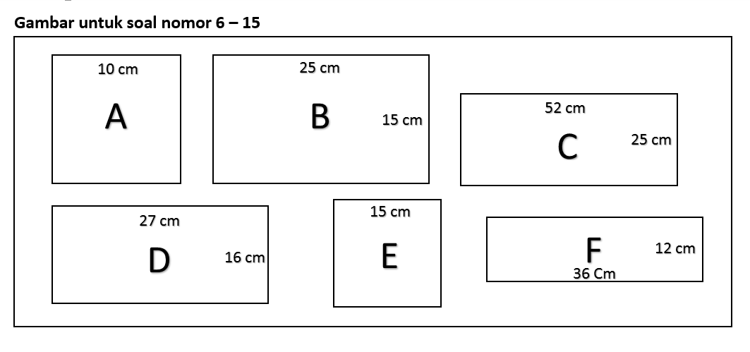 Soal Matematika Kelas 3 Sd Bab Luas Dan Keliling Persegi