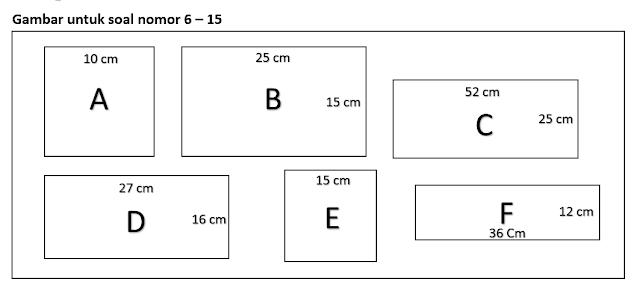 Soal Matematika Kelas 3 SD BAB - Luas dan Keliling Persegi dan Persegi Panjang Dilengkapi Kunci Jawaban