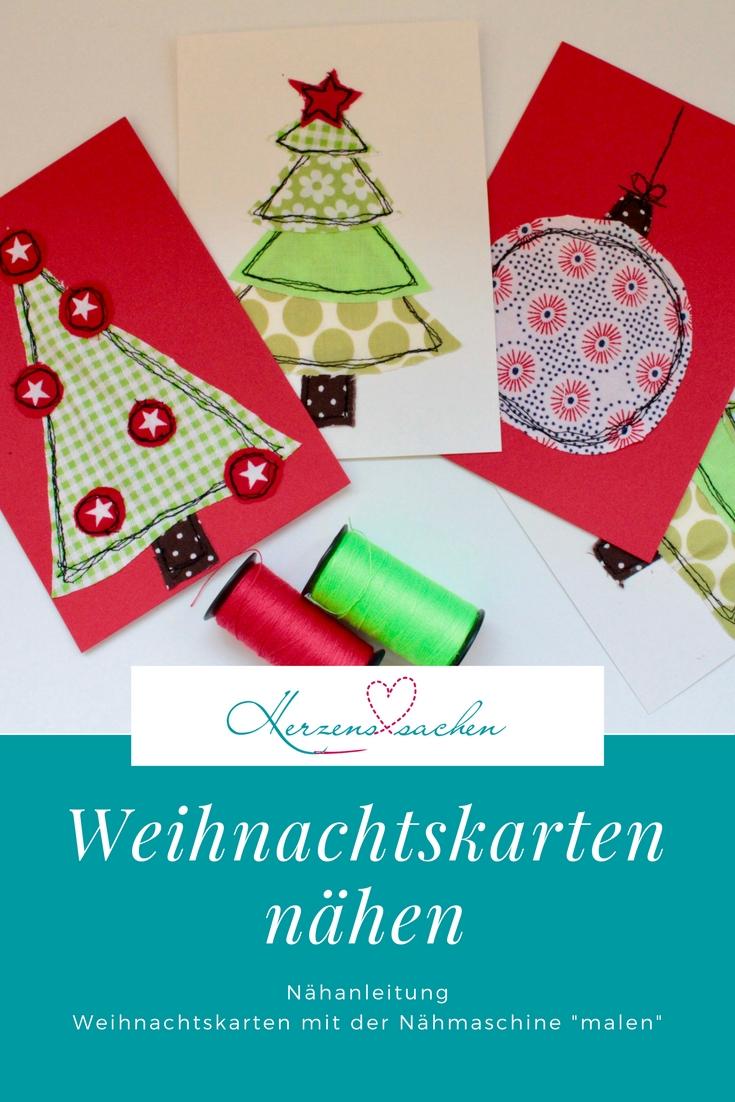 Herzenssachen: Weihnachtskarten nähen..