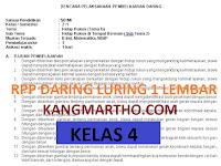 RPP DARING LURING 1 LEMBAR KELAS 4 SEMESTER 1 DAN 2