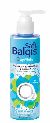 Safi Balqis, produk safi, set penjagaan muka suci bersih