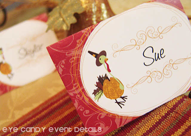 thanksgiving placecards, personalize thanksgiving, place setting