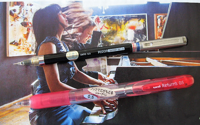 ohto piston sharp mechanical pencil