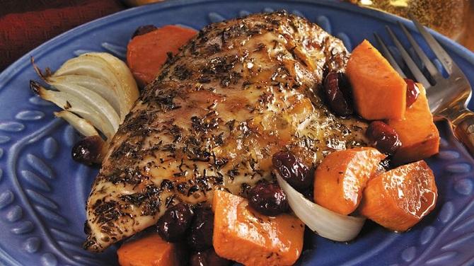 Orange-Glazed Meat with Sweet Potatoes Recipe