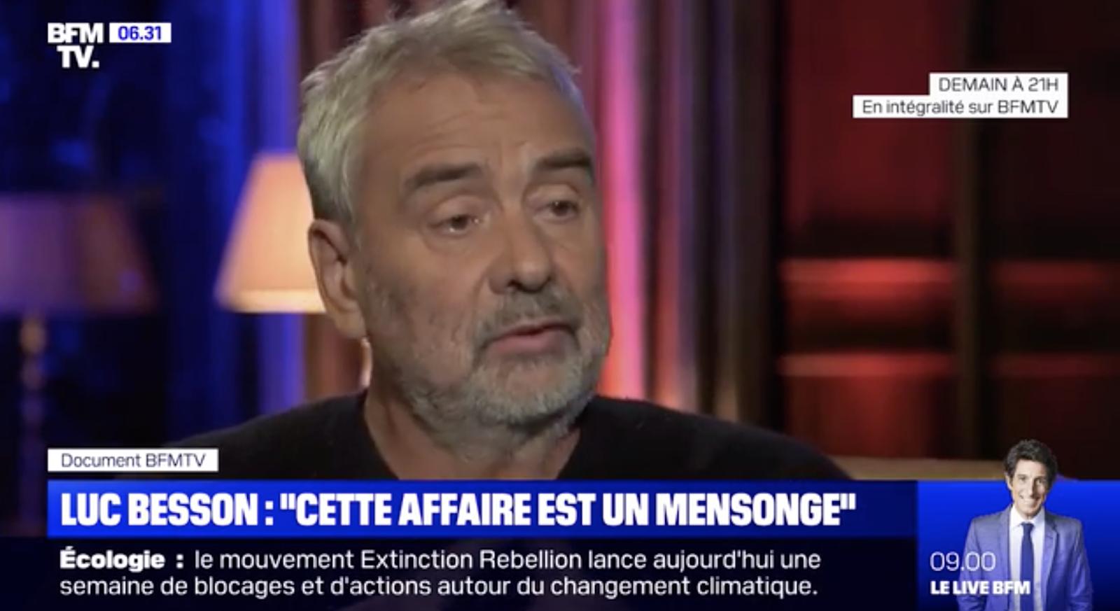 """VIDÉO """"Je n'ai jamais violé une femme de ma vie"""": Luc Besson se défend sur BFMTV et pointe """"des mensonges"""""""
