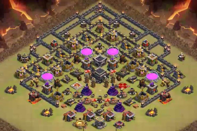 Base COC TH9 Trophy 4