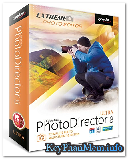 Miễn phí bản quyền PhotoDirector 8 Deluxe cho Windows và MAC