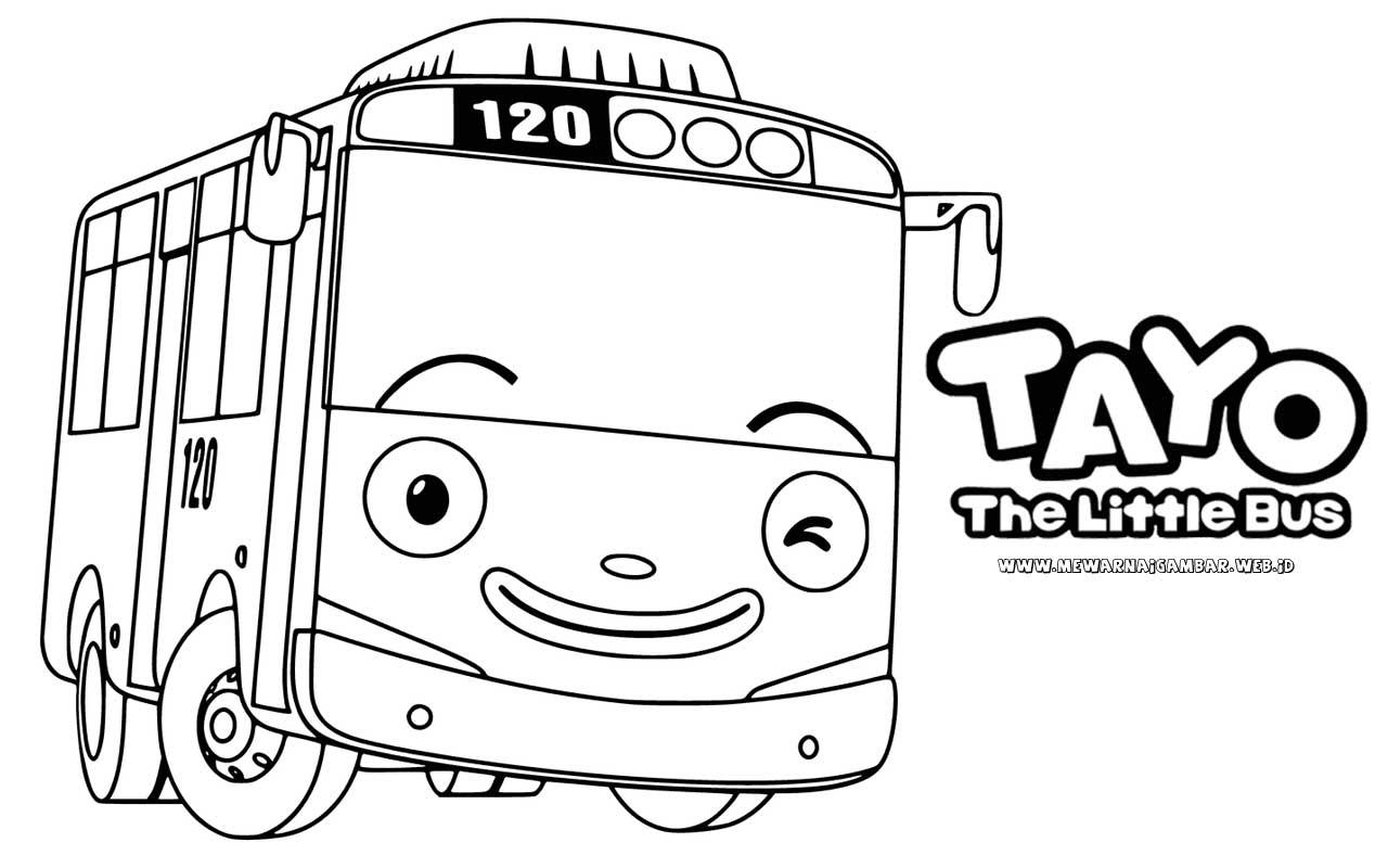 gambar tayo the little bus untuk mewarnai www.mewarnaigambar.web.id