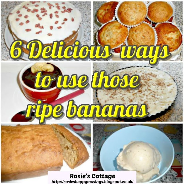 Six delicious ways to use up those ripe bananas, with recipes and tutorials.
