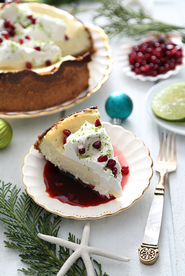 Winter Key Lime Cheesecake