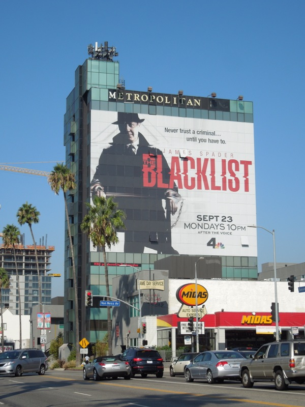 Blacklist giant season 1 billboard Sunset Boulevard