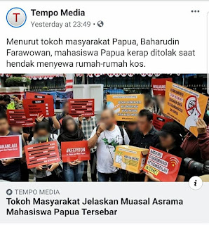 Mahasiswa Papua Ditolak