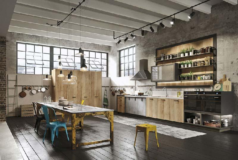 cucina stile industriale LOFT di Snaidero