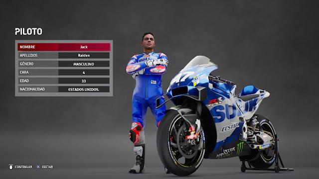 MotoGP 21 Creando nuestro piloto