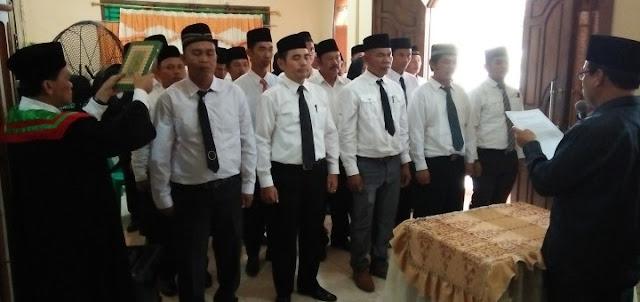 PPK Lima Kecamatan di PALI Dilantik