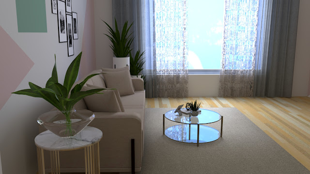 Sumber cahaya dari jendela samping sofa