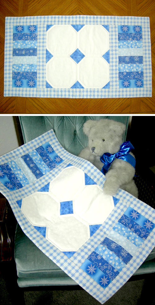 Winter Blues Table Runner - Tutorial