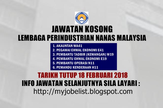 Jawatan Kosong Lembaga Perindustrian Nanas Malaysia (LPNM) 2018