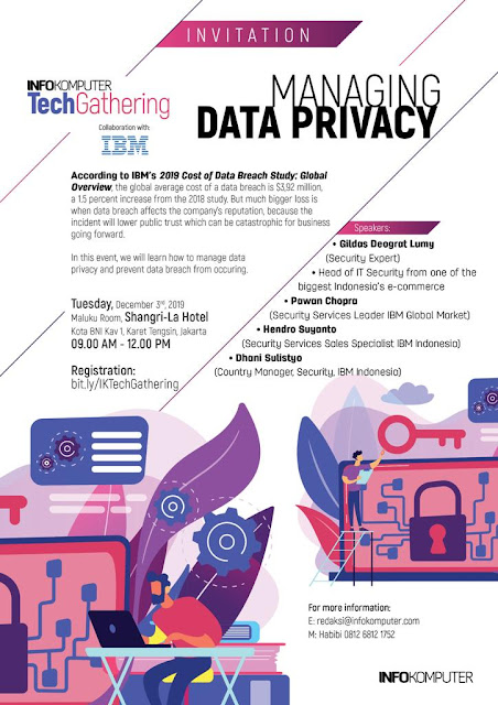 INFOKOMPUTER TechGathering Managing Data Privacy 3 Des 2019