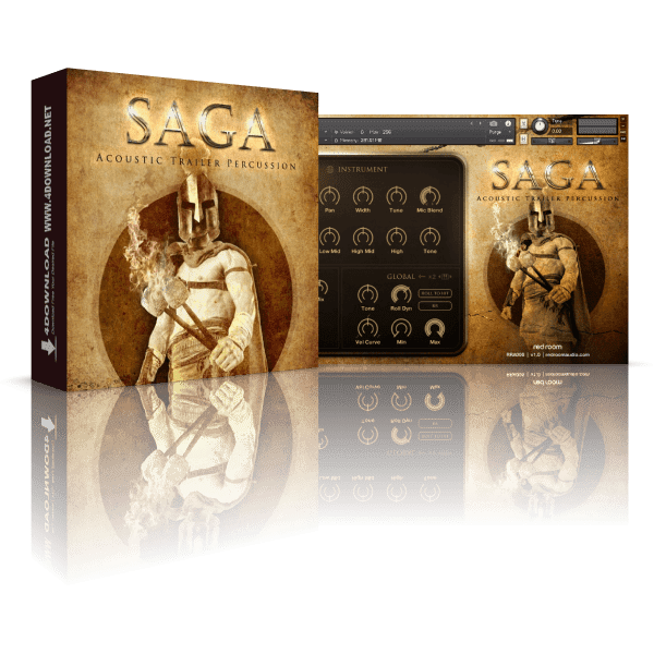 Saga Acoustic Trailer Percussion v1.1 KONTAKT Library