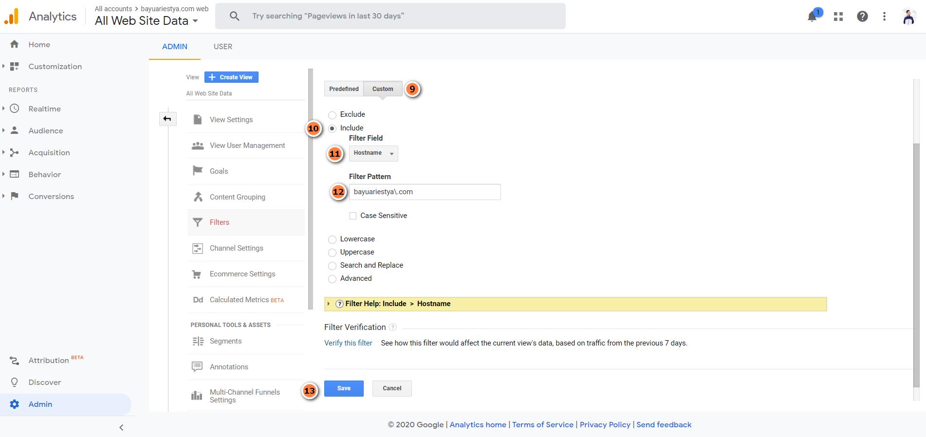 bayuariestya.com cara melindungi trafik google analytics agar tidak bisa terkena hack (3_rev)