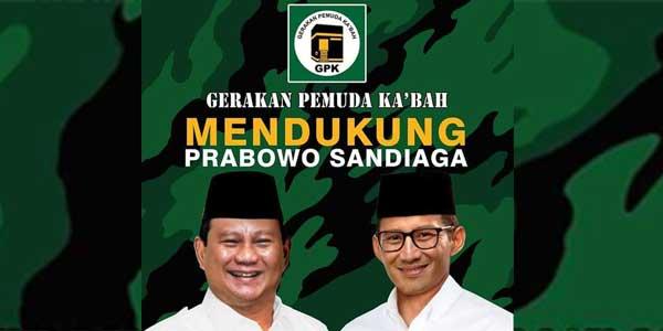 Gerakan Pemuda Ka'bah Jogja Dukung Prabowo-Sandi