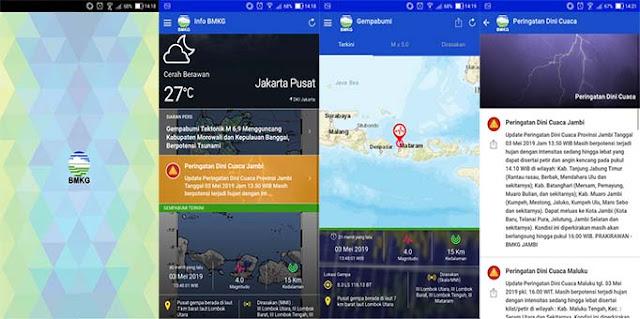 Info BMKG - Aplikasi Tanggap Darurat Menghadapi Bencana Alam